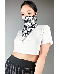 AKIRA Simple And Chic Marble Fashion Face And Neck Cover - White