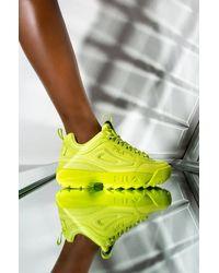 Fila Womens Disruptor Ii Premium In Lime - Multicolor