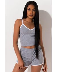 PAXTON - Cropped Sporty Tank - Lyst