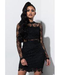 AKIRA - Be Around Lace Mini Dress - Lyst