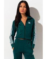 adidas Womens Firebird Track Top - Green