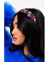 AKIRA Rainbow Power Gem Stone Headband - Black