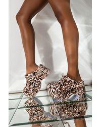 AKIRA Sit Back And Relax Flatform Sandal - Multicolour