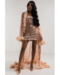 AKIRA Miss Rabbit Boudoir Mesh Robe - Multicolour