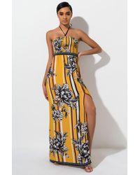 c1f0b6d95e2d AKIRA Gladys Rainbow Pleated Maxi Dress in Blue - Lyst