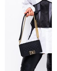 AKIRA So Ladylike Small Quilted Rubber Purse - Black