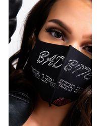 AKIRA Bad Bitch Bling Fashion Face Cover - Black
