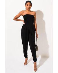 AKIRA Essential Tube Jumpsuit - Black