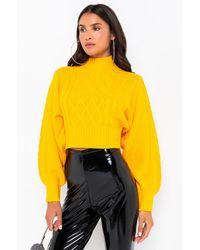 AKIRA Umi Knit Sweater - Yellow
