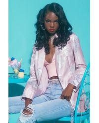AKIRA Sunday Kinda Love Floral Blazer - Pink