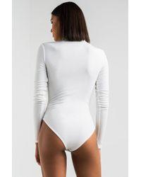 PAXTON Daytona Long Sleeve Bodysuit - White