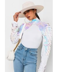 AKIRA Mother Of Dragons Scale Top - White