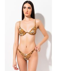 AKIRA Get Along With You Underwire Bikini Top - Multicolour