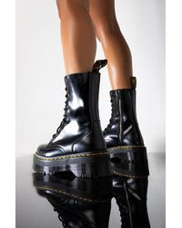 AKIRA Dr Martens Jadon Hi Polished Smooth Flatform Boot - Black