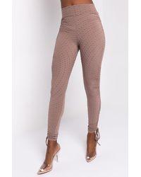 AKIRA Flawless Ruched Side Tie LEGGING - Brown