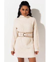 AKIRA Modern Queen Stretch Belt - White