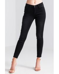 AKIRA - Change Your Life Mid Rise Skinny Jeans - Lyst