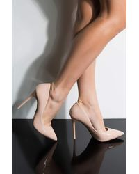 AKIRA Here To Stay Stiletto Pointed Toe Pump - Natural