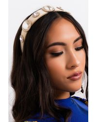 AKIRA Lil Humphry Pearl Headband - Natural