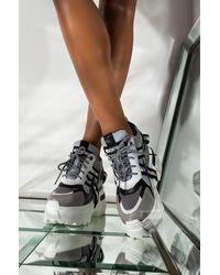 AKIRA Ur Perfect Platform Wedge Sneaker - Black