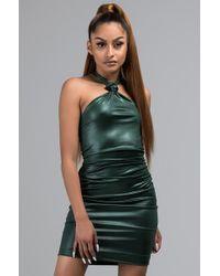 2aa6b85f386 Akira Black Label Sexy Studded Mesh Insert Dress in Black - Lyst