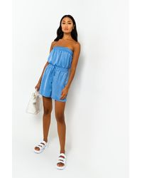 AKIRA As You Wish Strapless Romper - Blue