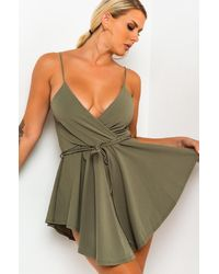 AKIRA Cant Stop The Sun Romper - Green