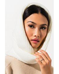 AKIRA Bailee Knit Infinity Scarf - White