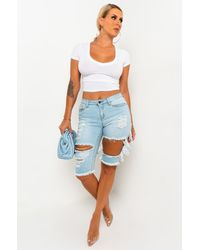 PAXTON Tania V Neck Crop Top - White