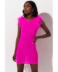AKIRA - Think I'm In Love Mesh Mini Dress - Lyst
