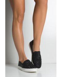 AKIRA - Cool Girl Rhinestone Flat Sneakers - Lyst