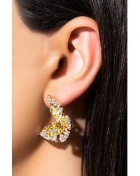 AKIRA Butterfly Kisses Statement Earring - Metallic