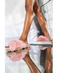 UGG Womens Fuzzalicious Slide - Pink