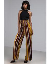 AKIRA - Take It In Striped Jumpsuit - Lyst