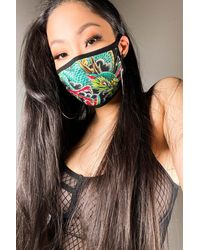 AKIRA Good Luck Fashion Face Cover - Green
