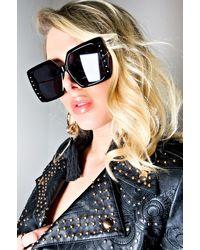 AKIRA Hollywood Blvd Oversized Sunglasses - Black