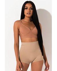 AKIRA Just Enough Booty Shorts - Multicolour