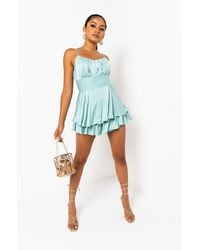 AKIRA Playin You Romper - Blue