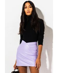 AKIRA Jezebel Mini Skirt - Purple