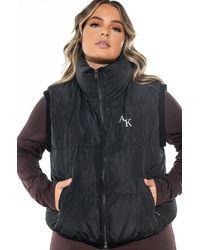 AKIRA Plus The Ak Crop Puffer Vest - Black