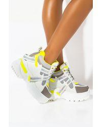 AKIRA Ur Perfect Platform Wedge Sneaker - White