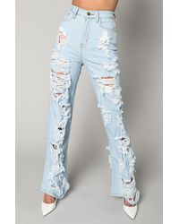 AKIRA I Am Always Here Relaxed Jeans - Blue