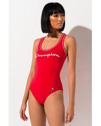 Champion Everyday Tank Top Bodysuit - Red