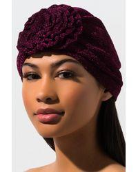 AKIRA - Monroe Glitter Headwrap - Lyst