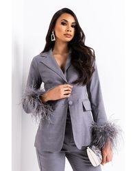 AKIRA Busy All The Time Blazer - Grey