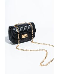 AKIRA I Can Feel It In The Air Chain Strap Purse - Black