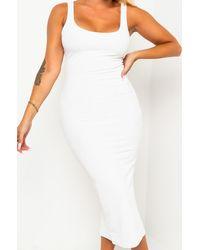 PAXTON Yes Girl Midi Dress - White