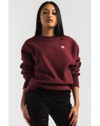 Champion - Reverse Weave Small C Crew Sweatshirt - Lyst 4cf9d93f37