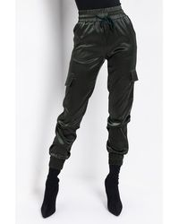 AKIRA - Don't Give Up Satin Cargo Pants - Lyst