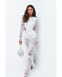 AKIRA Victorious Cut Out Maxi Dress - White